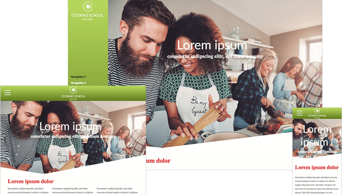 CM4all presents a new modern design template
